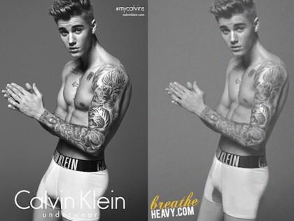 Justin Bieber tampoco se salva del Photoshop